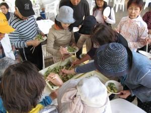 ◆試食「野草天ぷら」◆