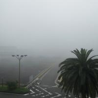 海からの霧 駐車場2