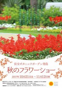 H29.10 植物園秋のフラワーショー A3ポスターout