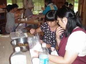 紫蘇漬、シロップ作り (9)