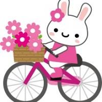 自転車ウサギピンク
